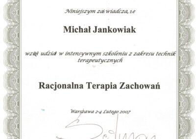 Racjonalna Terapia Zachowań, 2007