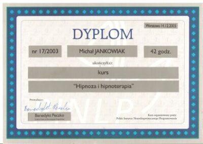 Hipnoza i hipnoterapia, 2003